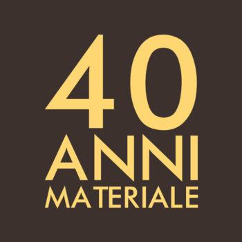 40 Anni materiale su sfondo marrone